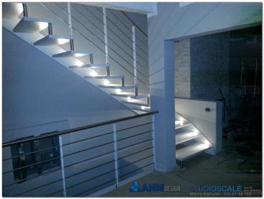 Studioscale anm design progettazione e produzione scale - Luci per scale ...